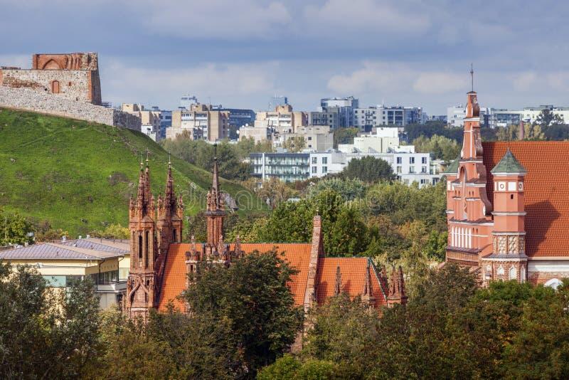 St Anne und Bernadine Churches in Vilnius stockfoto