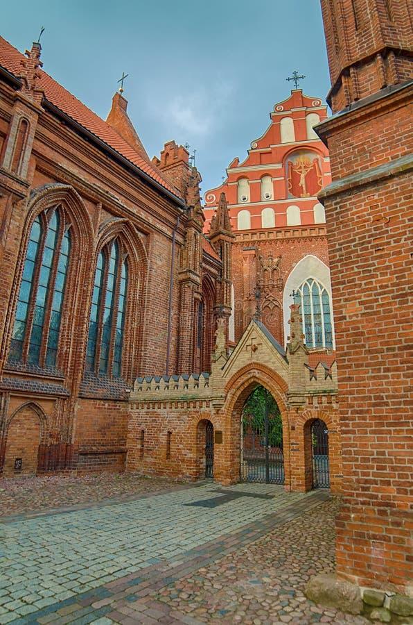 St Anne und Bernadines Kirchen in Vilnius, Litauen stockfoto