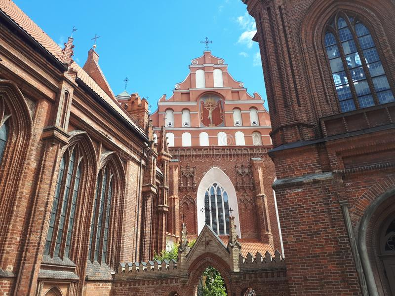 St Annes church. In Vilnius royalty free stock photos