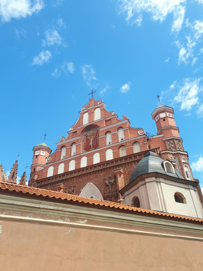 St Annes church. In Vilnius royalty free stock images