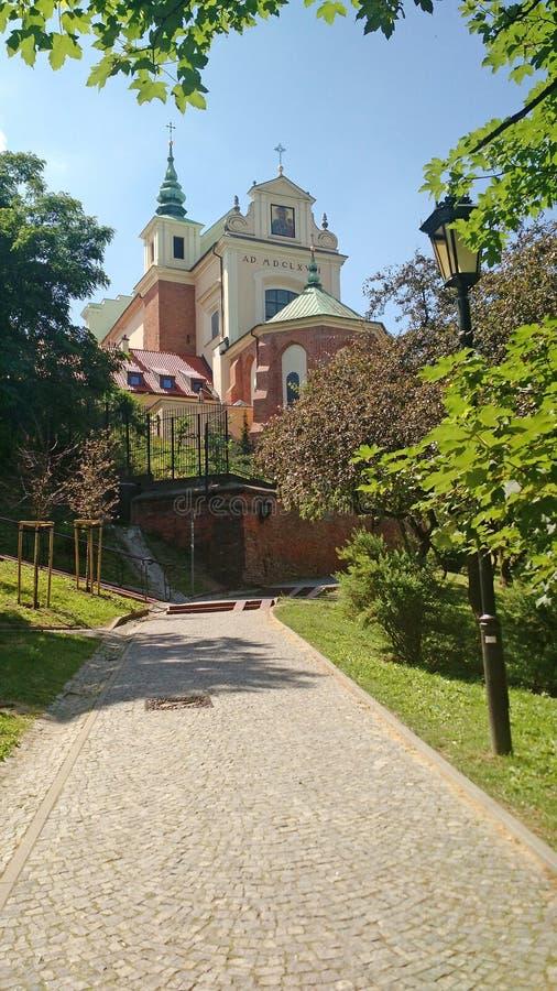 ST ANNES KYRKA - Warszawa - Polen arkivfoton