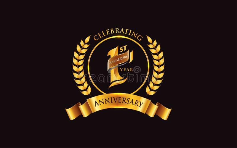 1st years anniversary logo design stock vector illustration of decoration anniversary 187607861 1st years anniversary logo design stock vector illustration of decoration anniversary 187607861