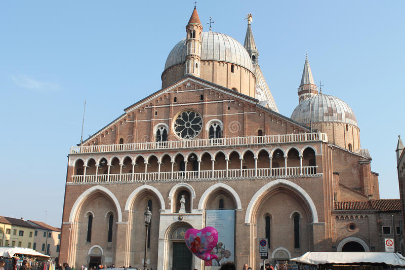 St. Anthony Basilica - A view from the square - Italy stock images