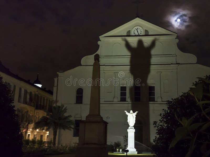 St Anthony Garten-Mond stockbilder