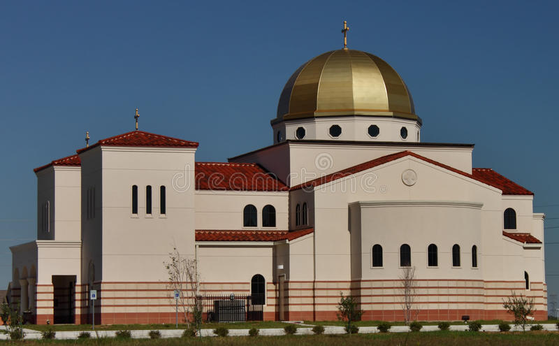 St. Anthony the Great Church. In Spring, TX royalty free stock images