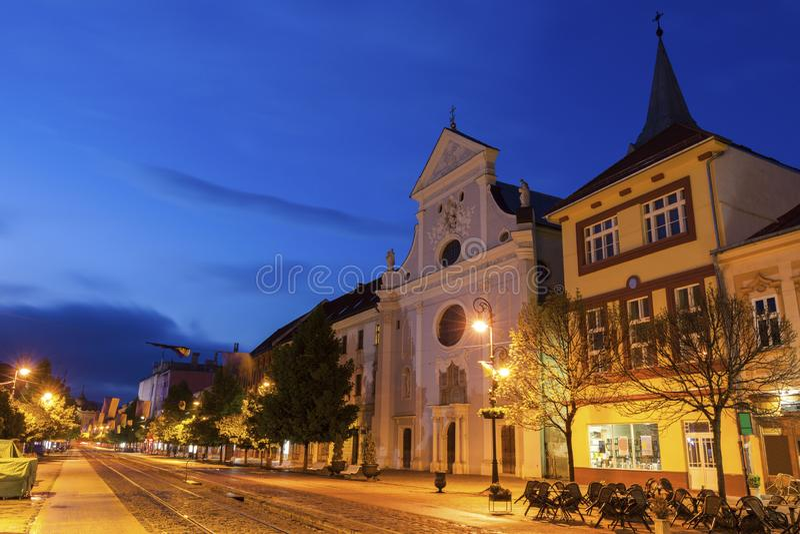 St Anton Church i Kosice royaltyfri fotografi