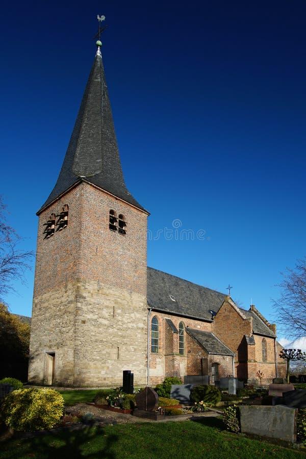 St. Antonius church in Kalkar Hanselaer, Germany on a sunny day royalty free stock photos