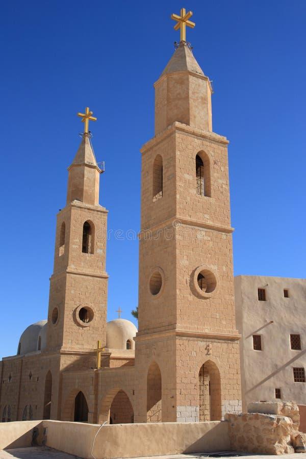 St. Antony Christelijk Koptisch Klooster, Egypte. royalty-vrije stock afbeeldingen