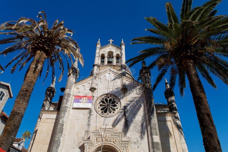 St. Archangel Michael Church, Hegceg Novi, Montenegro stock image