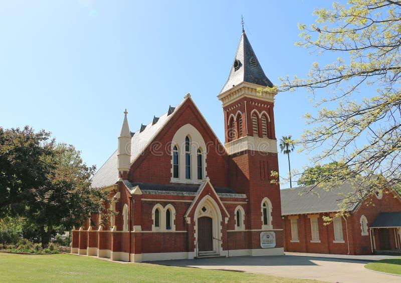 St Arnaud Łączący kościół jest Wiktoriański Angielski gotyk projektującym kościół budującym w 1875 zdjęcia royalty free