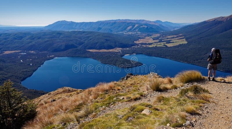 St Arnaud op Meer Rotoiti, Nelson Lakes National Park, Nieuw Zeeland stock fotografie
