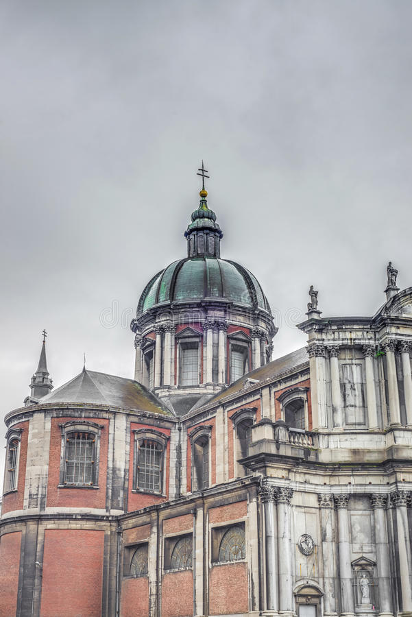 St Aubin katedra w Namur, Belgia. obrazy royalty free