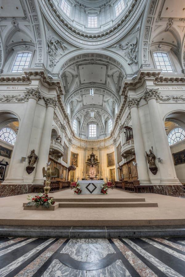 St Aubin katedra w Namur, Belgia zdjęcia stock