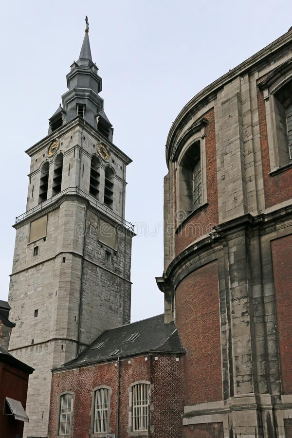 St Aubin ` s katedra, Namur, Belgia zdjęcie stock