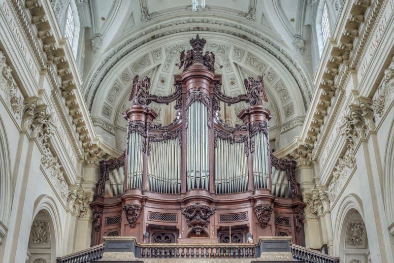 St Aubin ` s katedra w Namur, Belgia obraz stock