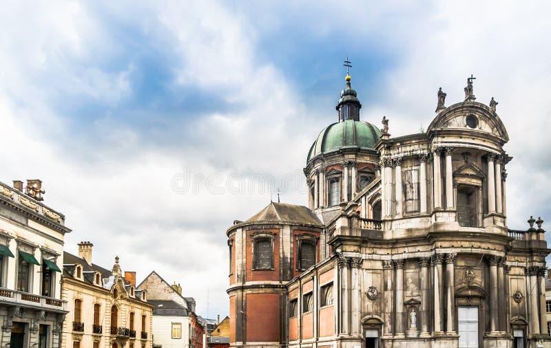 St Aubin ` s katedra w Namur, Belgia - zdjęcie stock