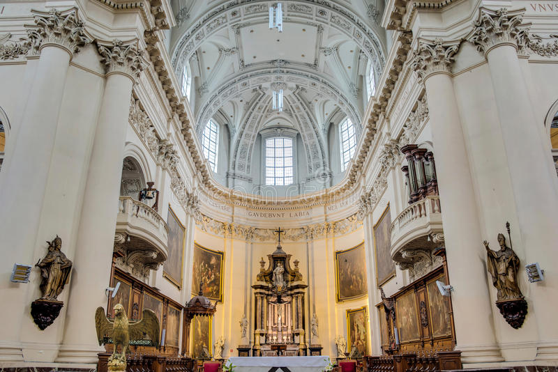 St Aubin ` s katedra w Namur, Belgia zdjęcie stock