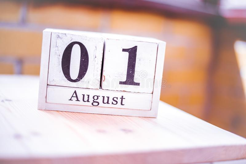 1st of August - August 1 - Birthday - International Day - National Day royalty free stock photography