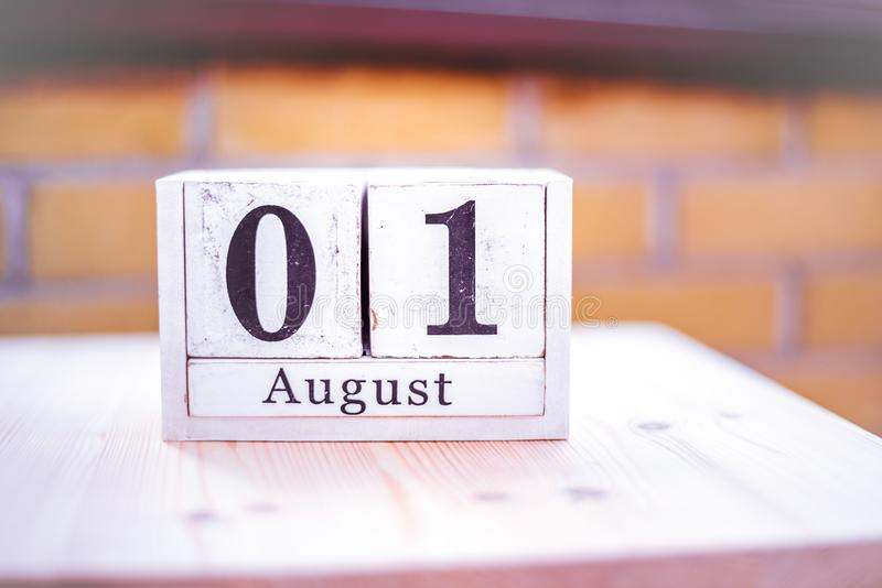 1st of August - August 1 - Birthday - International Day - National Day royalty free stock image