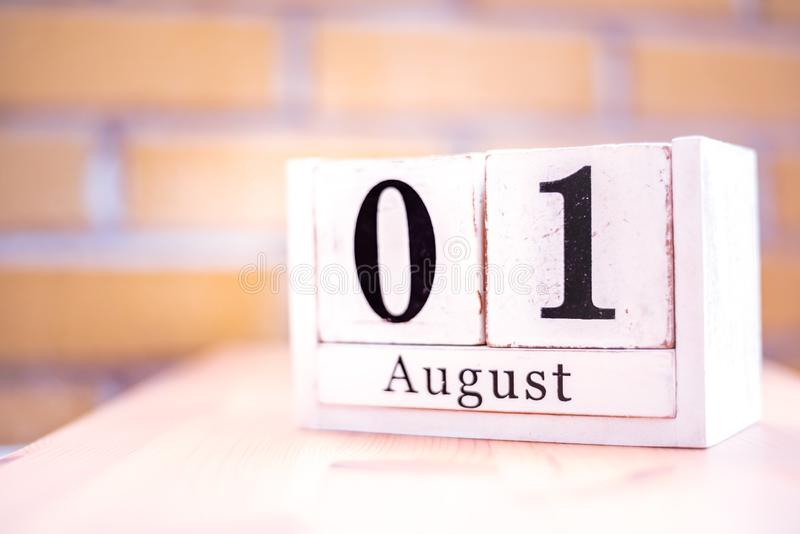 1st of August - August 1 - Birthday - International Day - National Day stock photos