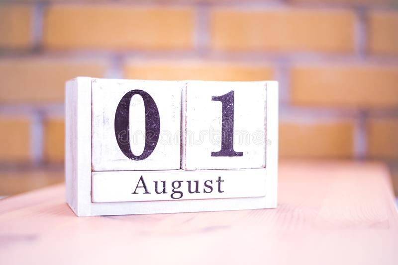 1st of August - August 1 - Birthday - International Day - National Day royalty free stock images