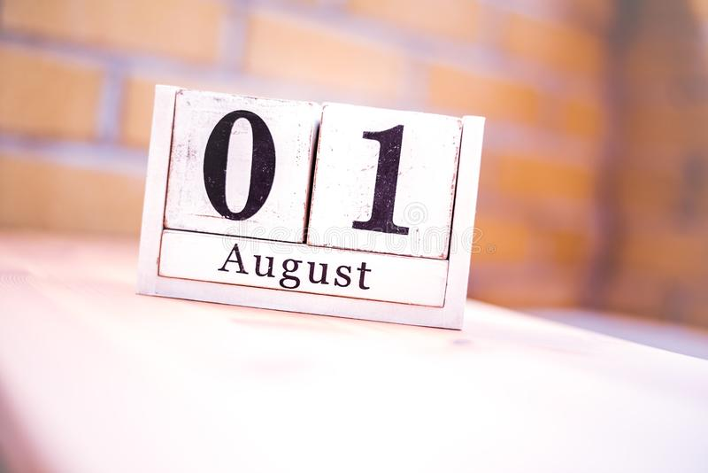 1st of August - August 1 - Birthday - International Day - National Day stock photography