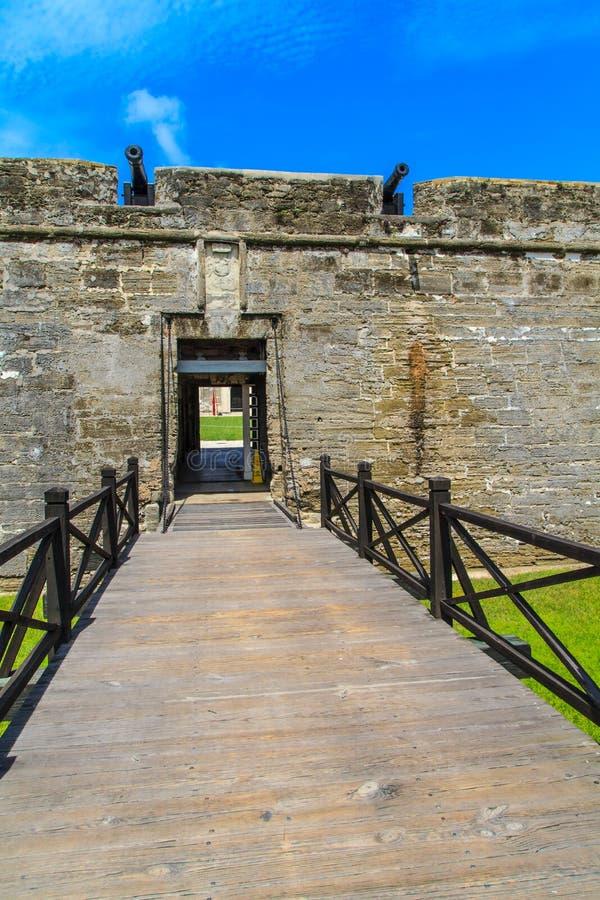 St Augustine堡垒, Castillo de圣马科斯国家历史文物 免版税库存图片