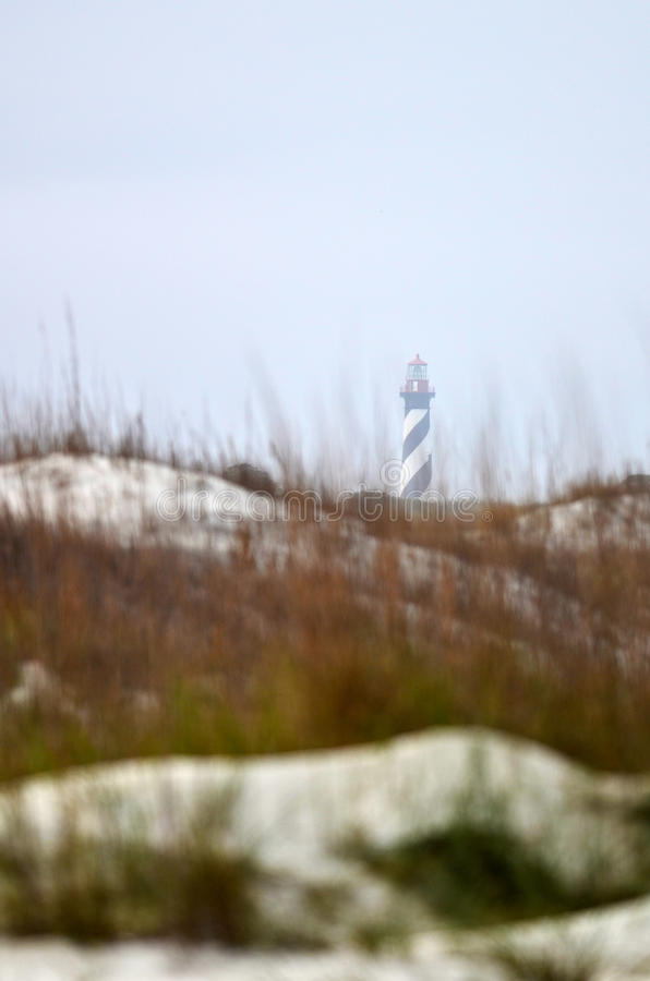 St Augustine海滩灯塔   免版税库存照片