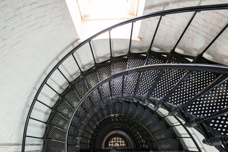 St. Augustine灯塔内部 免版税图库摄影