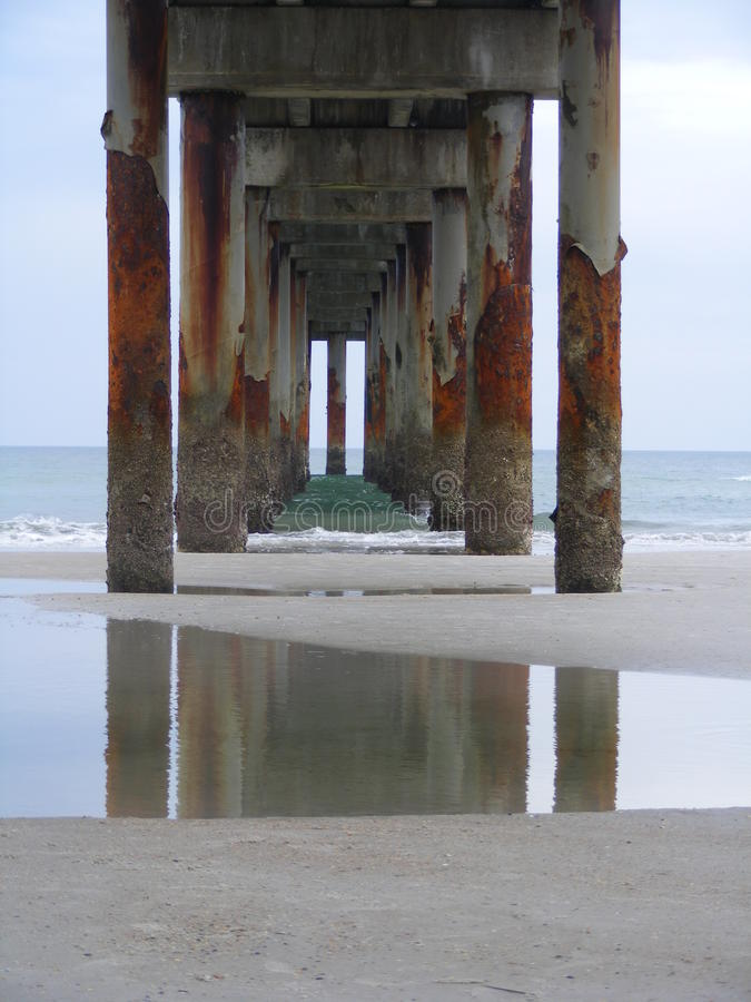 St Augustine Beach Pier immagini stock