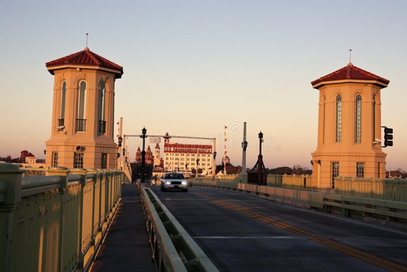 St. Augustine - bro på soluppgången royaltyfri fotografi