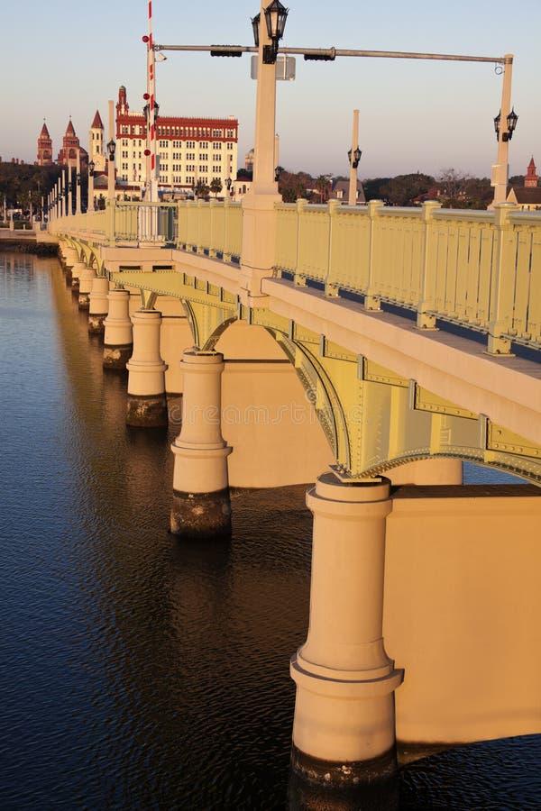 St. Augustine - bro på soluppgången fotografering för bildbyråer
