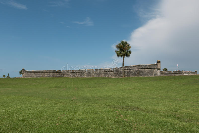 St. Augustine. Castillo de San Marco National Monument. An ancient fort in St. Augustine, Florida stock photography