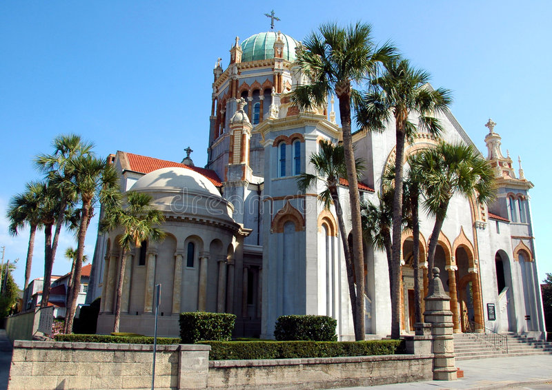 St. Augustine church Florida. Exterior of Roman Catholic St. Augustine church, Florida, U.S.A royalty free stock photo