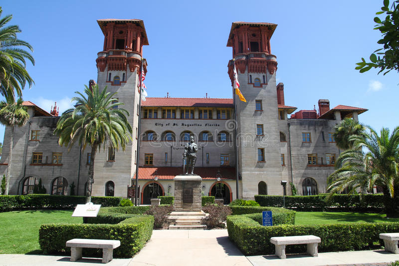 Foyer Museum Usa : St augustine city hall stock photo image