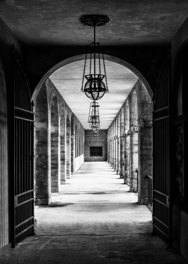 St Augustine Corridor immagine stock