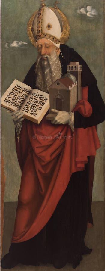 St Augustine de la pintura del hipopótamo fotos de archivo