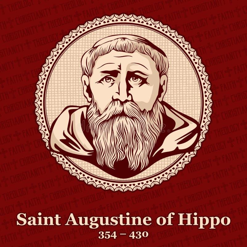 """St Augustine do †""""430 do hipopótamo 354 era Roman African, um teólogo cristão adiantado e um filósofo de Numidia cujas escritas ilustração royalty free"""