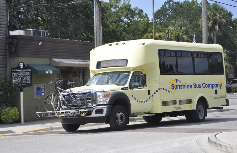 St Augustine FL,August 8th:City Bus in St Augustine from Florida stock photography