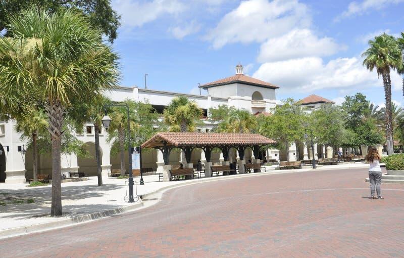 St Augustine FL, 8 Augustus: Busstation van St Augustine in Florida royalty-vrije stock afbeelding