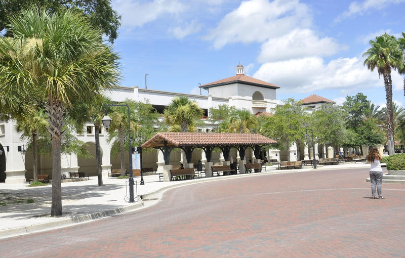 St Augustine FL, l'8 agosto: Autostazione da St Augustine in Florida immagine stock libera da diritti