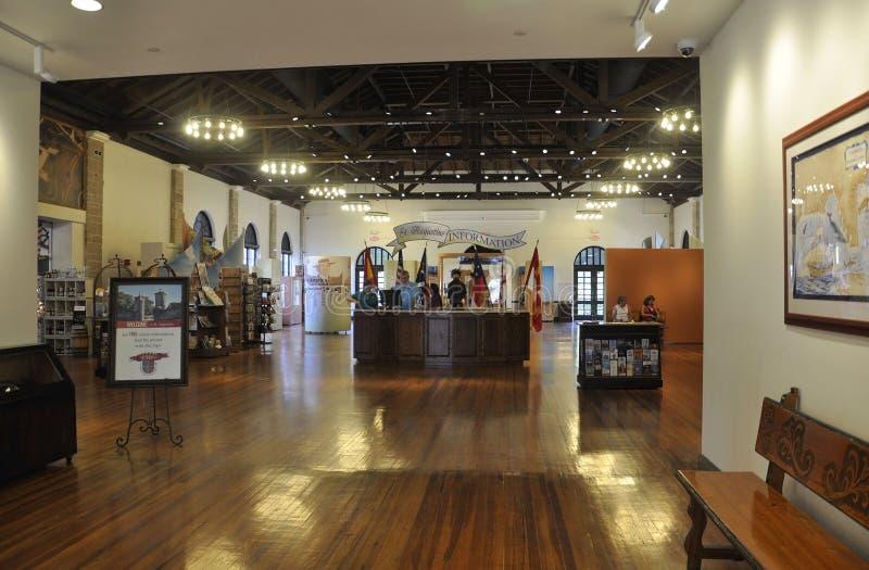 St Augustine FL, Sierpień 8th: Gościa Centrum wnętrze od St Augustine w Floryda obrazy stock
