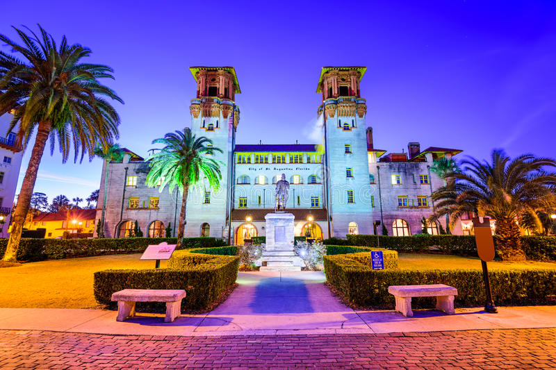 St. Augustine, Florida City Hall stock photo