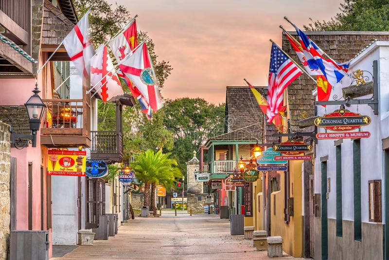 St Augustine, Florida, de V.S. stock afbeeldingen