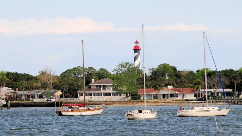 St Augustine Florida delle case delle barche fotografia stock libera da diritti