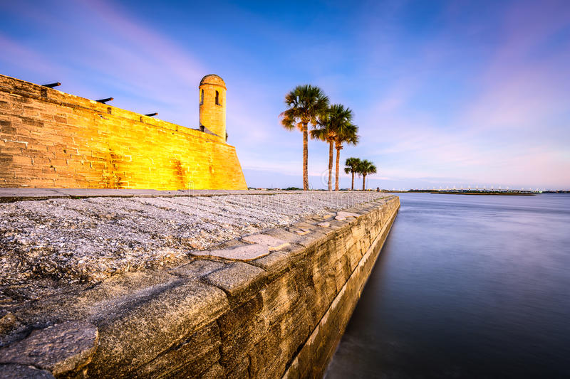 St. Augustine, Florida Fort royalty free stock images