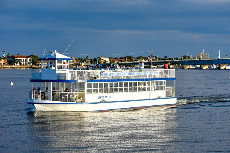 Scenic Cruise Tour on colorful background in Florida`s Historic Coast 2 royalty free stock photo