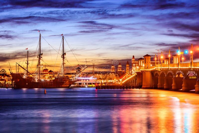 St. Augustine, Florida Skyline stock photo
