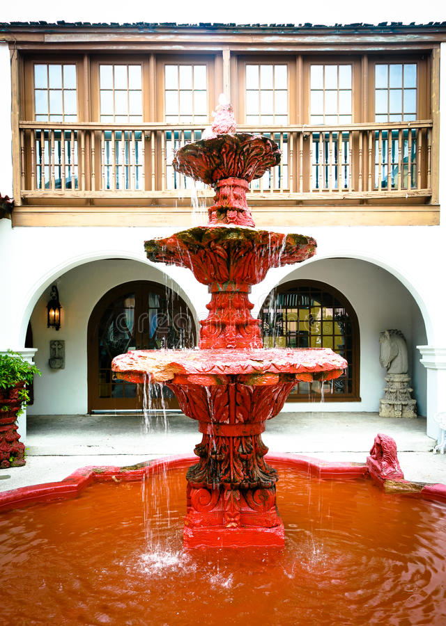 St. Augustine: Fonte espanhola foto de stock