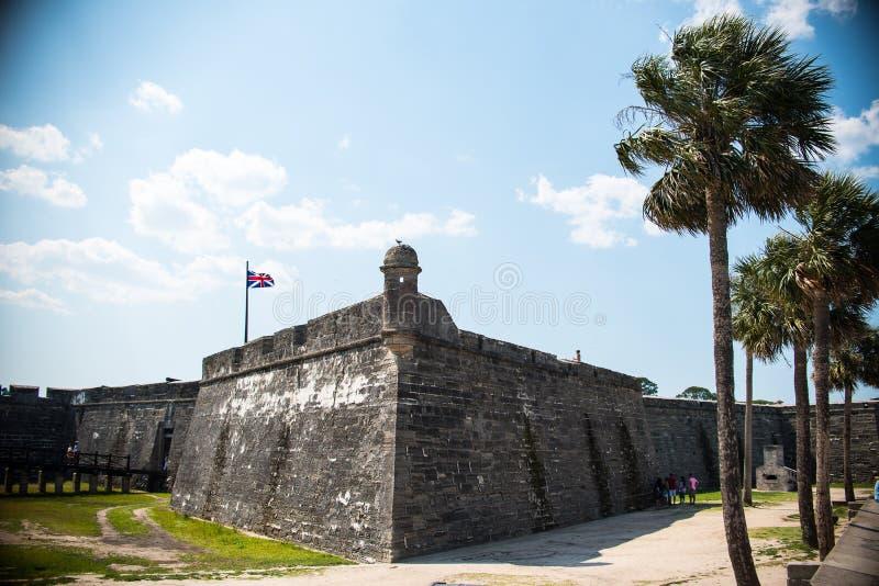 St Augustine Fort Florida Landscape arkivfoton